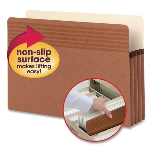 """Easy Grip Pockets, 3.5"""" Expansion, Legal Size, Redrope, 25/Box. Picture 1"""
