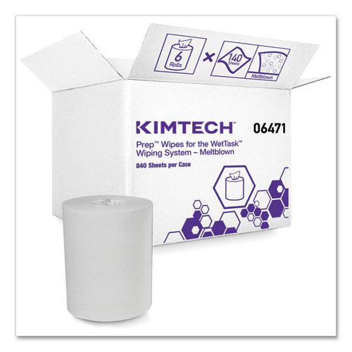 Wipers for the WETTASK System, Quat Disinfectants and Sanitizers, 6 x 12, 840/Roll, 6 Rolls and 1 Bucket/Carton. Picture 1