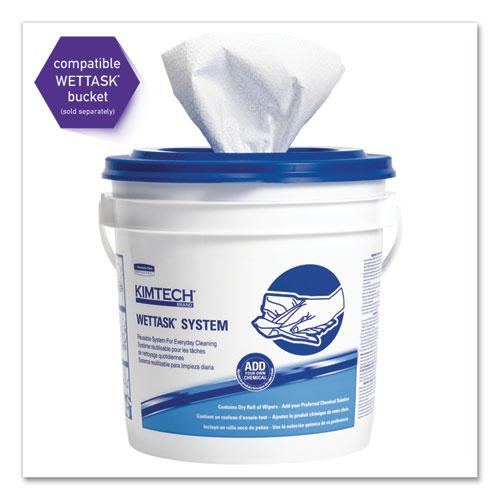 Wipers for the WETTASK System, Quat Disinfectants and Sanitizers, 6 x 12, 840/Roll, 6 Rolls and 1 Bucket/Carton. Picture 4