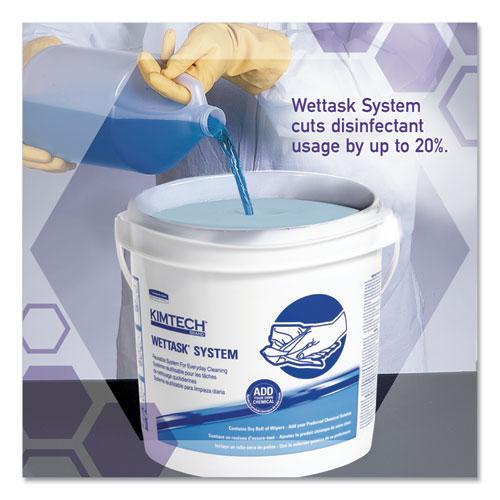 Wipers for the WETTASK System, Quat Disinfectants and Sanitizers, 6 x 12, 840/Roll, 6 Rolls and 1 Bucket/Carton. Picture 6
