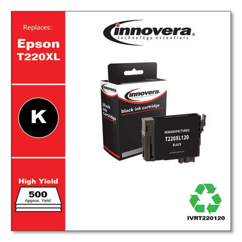 Remanufactured Black High-Yield Ink, Replacement for Epson T220XL (T220XL120), 500 Page-Yield. Picture 2