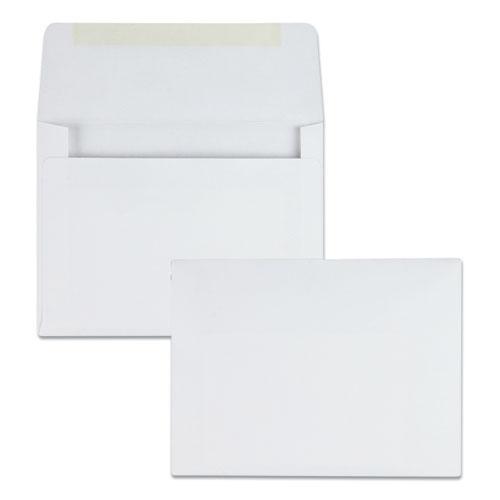 Greeting Card/Invitation Envelope, A-2, Square Flap, Gummed Closure, 4.38 x 5.75, White, 500/Box. Picture 1