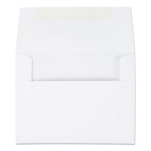 Greeting Card/Invitation Envelope, A-2, Square Flap, Gummed Closure, 4.38 x 5.75, White, 100/Box. Picture 1