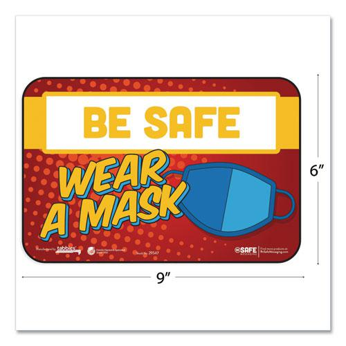 """BeSafe Messaging Education Wall Signs, 9 x 6,  """"Be Safe, Wear A Mask"""", 3/Pack. Picture 2"""