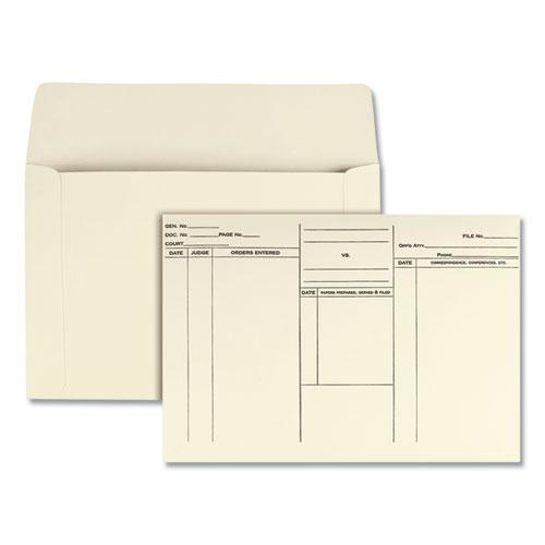 Attorney's Envelope/Transport Case File, Cheese Blade Flap, Fold Flap Closure, 10 x 14.75, Cameo Buff, 100/Box. Picture 1