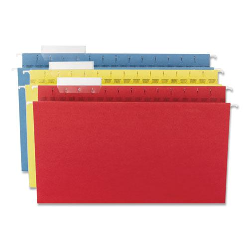TUFF Hanging Folders with Easy Slide Tab, Legal Size, 1/3-Cut Tab, Assorted, 15/Box. Picture 6