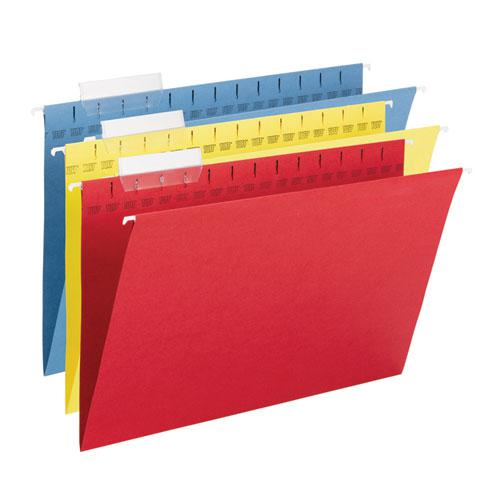 TUFF Hanging Folders with Easy Slide Tab, Legal Size, 1/3-Cut Tab, Assorted, 15/Box. Picture 4