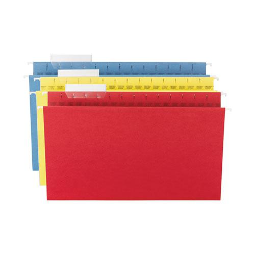 TUFF Hanging Folders with Easy Slide Tab, Legal Size, 1/3-Cut Tab, Assorted, 15/Box. Picture 5