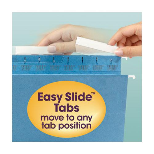 TUFF Hanging Folders with Easy Slide Tab, Legal Size, 1/3-Cut Tab, Assorted, 15/Box. Picture 7