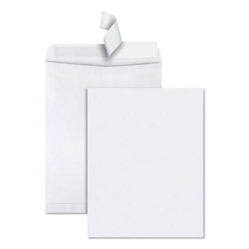 Redi-Strip Catalog Envelope, #15 1/2, Cheese Blade Flap, Redi-Strip Closure, 12 x 15.5, White, 100/Box. Picture 1