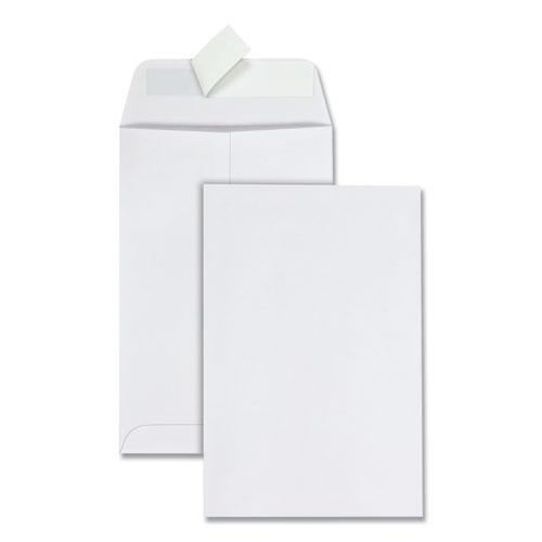 Redi-Strip Catalog Envelope, #1, Cheese Blade Flap, Redi-Strip Closure, 6 x 9, White, 100/Box. Picture 1