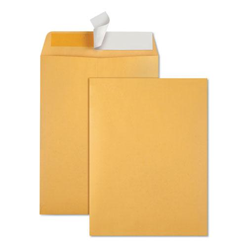 Redi-Strip Catalog Envelope, #10 1/2, Cheese Blade Flap, Redi-Strip Closure, 9 x 12, Brown Kraft, 100/Box. Picture 1