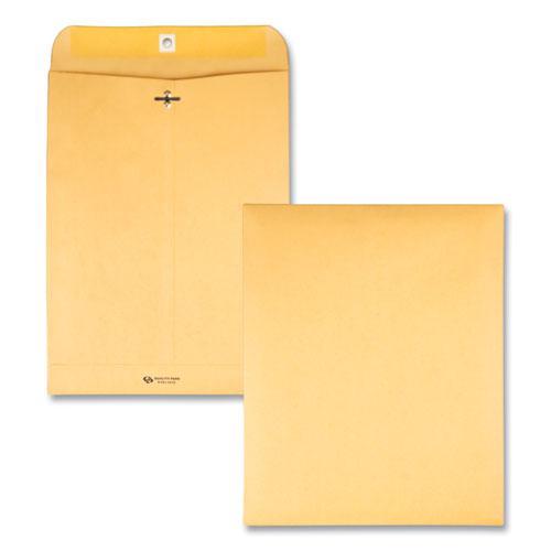 Clasp Envelope, #12 1/2, Square Flap, Clasp/Gummed Closure, 9.5 x 12.5, Brown Kraft, 100/Box. Picture 1