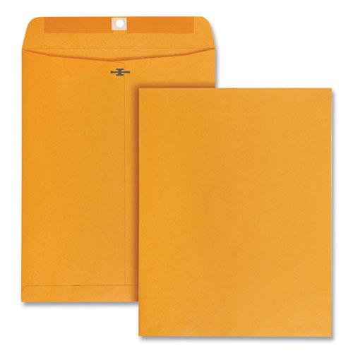 Clasp Envelope, #97, Square Flap, Clasp/Gummed Closure, 10 x 13, Brown Kraft, 100/Box. Picture 1