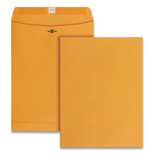 Clasp Envelope, #90, Square Flap, Clasp/Gummed Closure, 9 x 12, Brown Kraft, 250/Carton. Picture 1