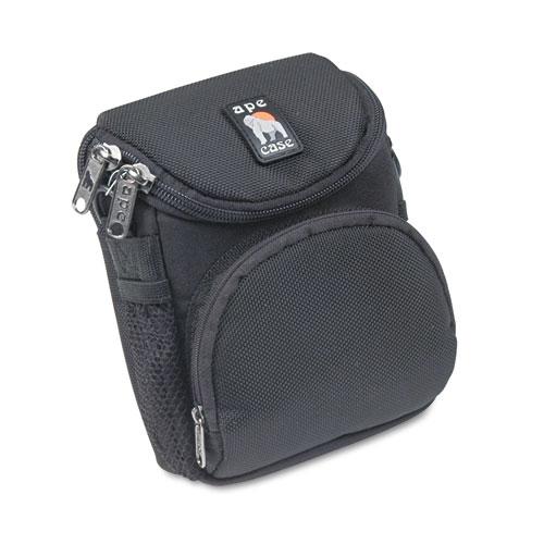 Camcorder/Digital Camera Case, Ballistic Nylon, 5 x 2 x 4 1/2, Black. Picture 1