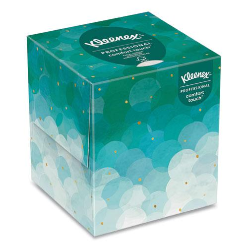 Boutique White Facial Tissue, 2-Ply, Pop-Up Box, 95 Sheets/Box, 6 Boxes/Pack. Picture 4