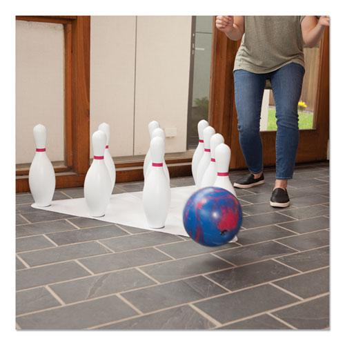 Bowling Set, Plastic/Rubber, White, 1 Ball/10 Pins/Set. Picture 10
