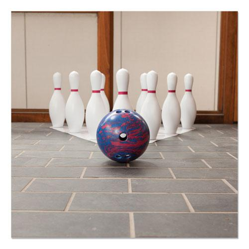 Bowling Set, Plastic/Rubber, White, 1 Ball/10 Pins/Set. Picture 2