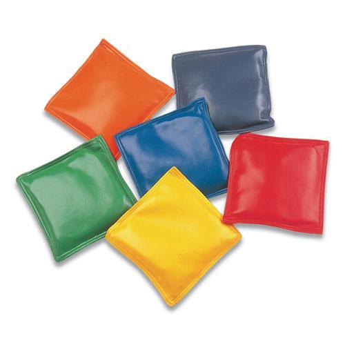 """Bean Bag Set, Vinyl, 4"""", Assorted Colors, Dozen. Picture 1"""