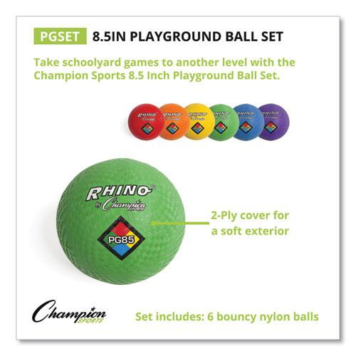 Playground Ball Set, Nylon, Assorted Colors, 6/Set. Picture 1