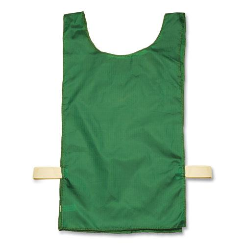 Heavyweight Pinnies, Nylon, One Size, Green, 12/Box. Picture 1