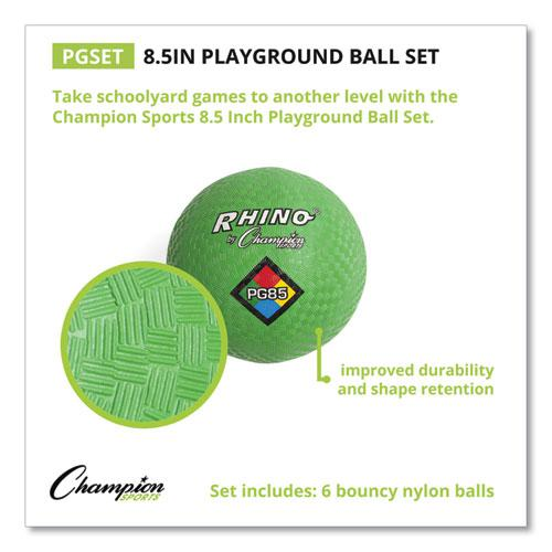 Playground Ball Set, Nylon, Assorted Colors, 6/Set. Picture 5