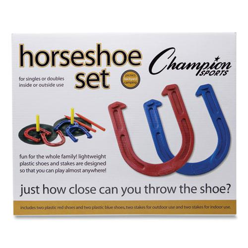 Indoor/Outdoor Rubber Horseshoe Set. Picture 8