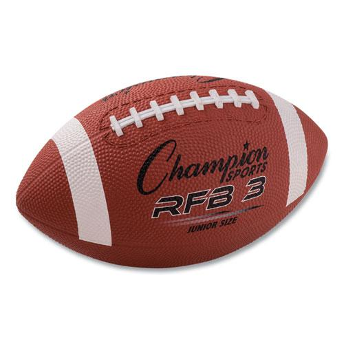 Rubber Sports Ball, For Football, Junior Size, Brown. Picture 1