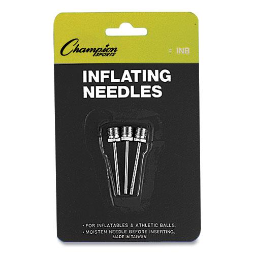 Nickel-Plated Inflating Needles for Electric Inflating Pump, 3/Pack. Picture 1
