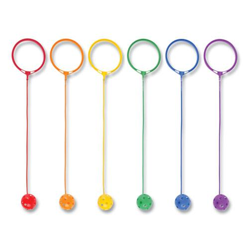 Swing Ball Set, Plastic, Assorted Colors, 6/Set. Picture 3