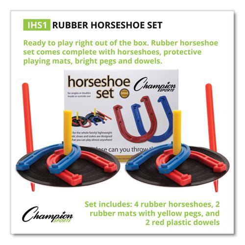 Indoor/Outdoor Rubber Horseshoe Set. Picture 7