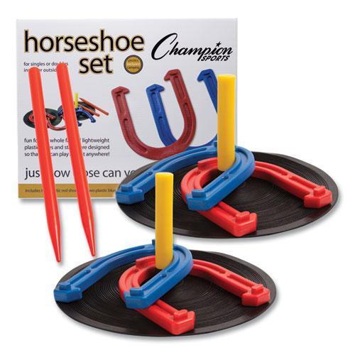 Indoor/Outdoor Rubber Horseshoe Set. Picture 1