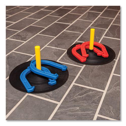 Indoor/Outdoor Rubber Horseshoe Set. Picture 9