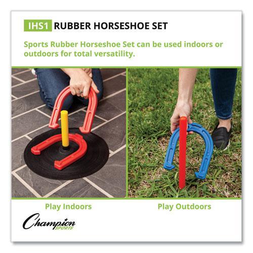 Indoor/Outdoor Rubber Horseshoe Set. Picture 10