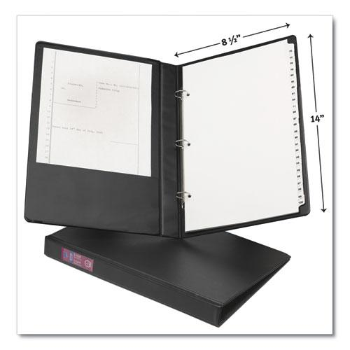 """Legal Durable Non-View Binder with Round Rings, 3 Rings, 1"""" Capacity, 14 x 8.5, Black, (6400). Picture 2"""