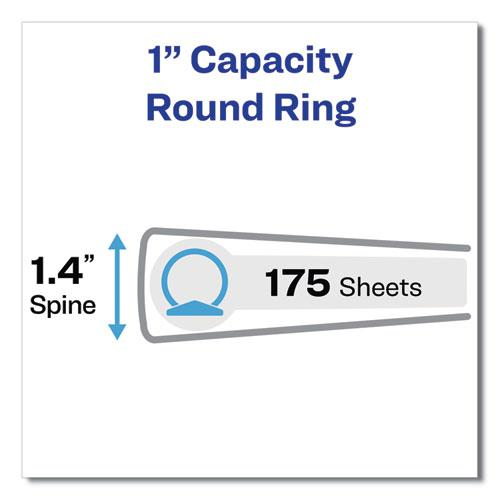 """Legal Durable Non-View Binder with Round Rings, 3 Rings, 1"""" Capacity, 14 x 8.5, Black, (6400). Picture 4"""