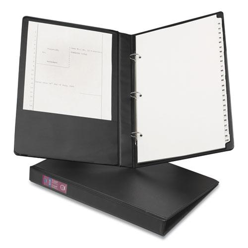 """Legal Durable Non-View Binder with Round Rings, 3 Rings, 1"""" Capacity, 14 x 8.5, Black, (6400). Picture 1"""