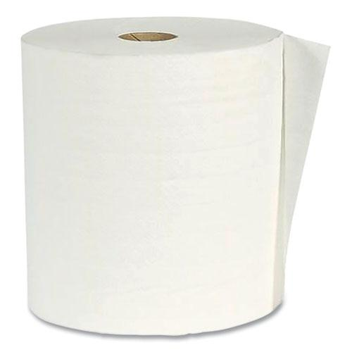 """Hardwound Paper Towel Roll, Virgin Paper, 1-Ply, 7.88"""" x 800 ft, White, 6/Carton. Picture 1"""