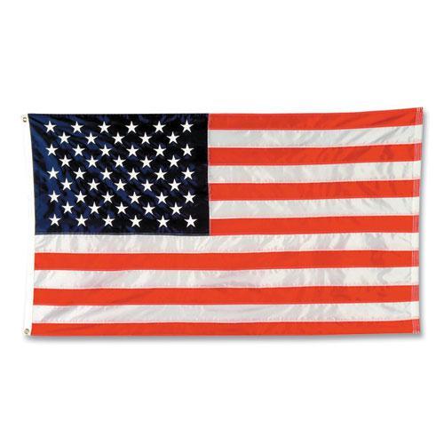 Indoor/Outdoor U.S. Flag, Nylon, 8 ft x 5 ft. Picture 1