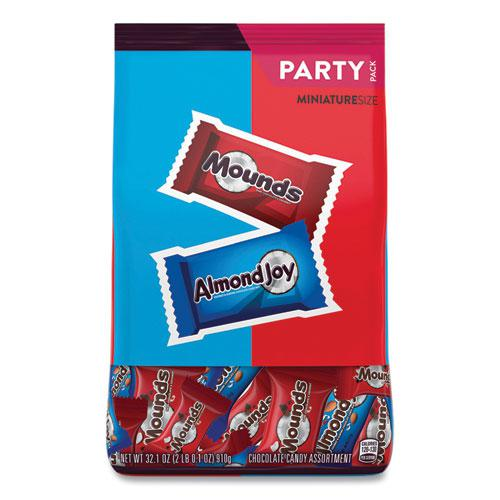 Almond Joy and Mounds Chocolate Minature Size Party Pack, 32.1 oz Bag, Approximately 63 Pieces. Picture 1