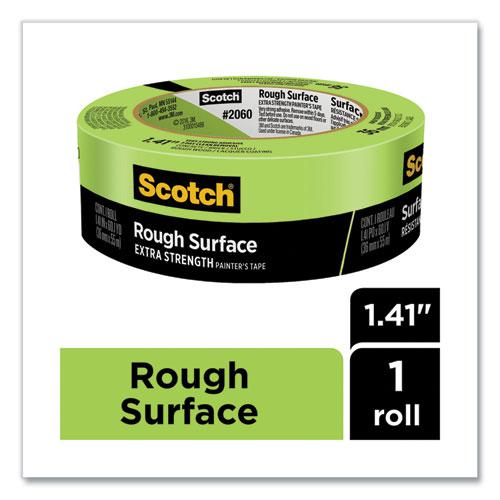 """Rough Surface Extra Strength Painter's Tape, 3"""" Core, 1.41"""" x 60.1 yds, Green. Picture 3"""