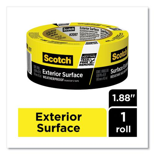 Exterior Surface Weatherproof Painter's Tape, 1.88 x 45 yds, Yellow. Picture 2