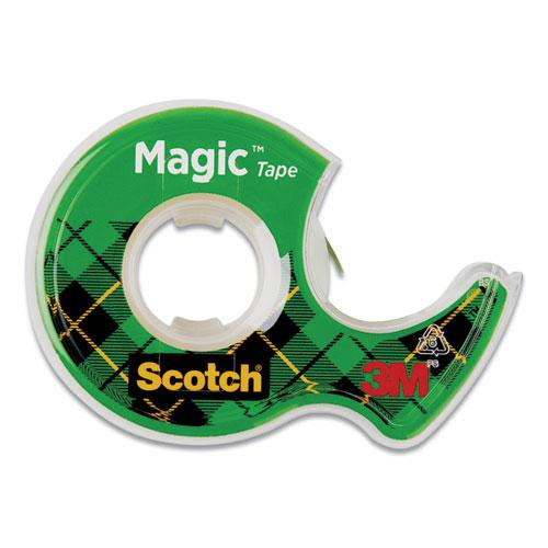 """Magic Tape in Handheld Dispenser, 1"""" Core, 0.5"""" x 37.5 ft, Clear. Picture 1"""