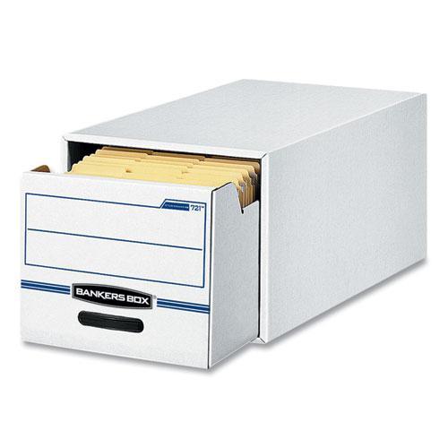 "STOR/DRAWER Basic Space-Savings Storage Drawers, Legal Files, 16.75"" x 19.5"" x 11.5"", White/Blue, 6/Carton. Picture 2"