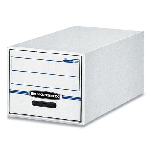 "STOR/DRAWER Basic Space-Savings Storage Drawers, Legal Files, 16.75"" x 19.5"" x 11.5"", White/Blue, 6/Carton. Picture 1"