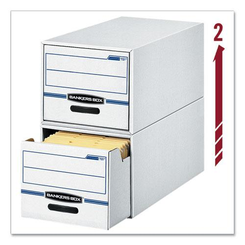 "STOR/DRAWER Basic Space-Savings Storage Drawers, Legal Files, 16.75"" x 19.5"" x 11.5"", White/Blue, 6/Carton. Picture 3"