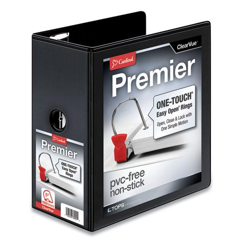 "Premier Easy Open ClearVue Locking Slant-D Ring Binder, 3 Rings, 5"" Capacity, 11 x 8.5, Black. Picture 1"