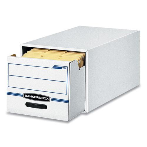 """STOR/DRAWER Basic Space-Savings Storage Drawers, Letter Files, 14"""" x 25.5"""" x 11.5"""", White/Blue, 6/Carton. Picture 2"""