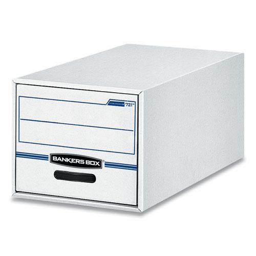 """STOR/DRAWER Basic Space-Savings Storage Drawers, Letter Files, 14"""" x 25.5"""" x 11.5"""", White/Blue, 6/Carton. Picture 1"""